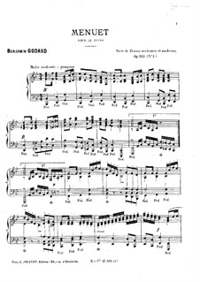 Suite de Danses anciennes et modernes, Op.103: No.1 Менуэт by Бенжамин Годар