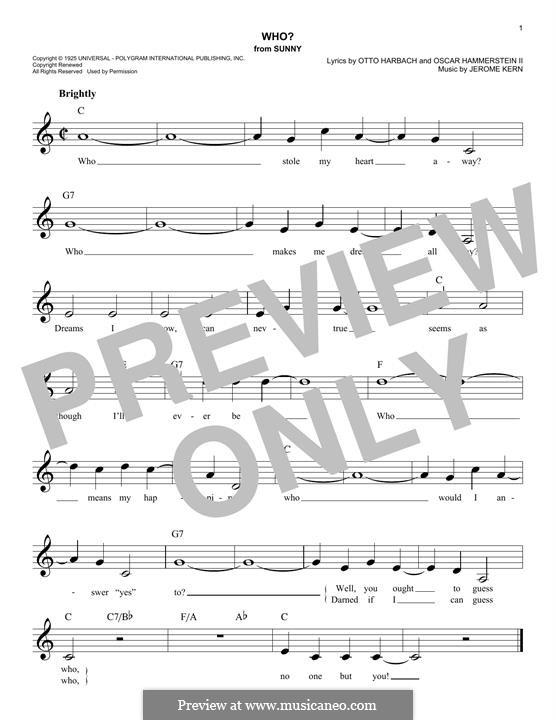 Who?: Мелодия by Джером Керн