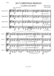 Christmas Medley, for Clarinet quartet: Christmas Medley, for Clarinet quartet by folklore