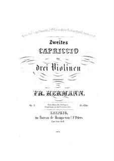 Каприччио No.2 для трех скрипок, Op.5: Партия III скрипки by Фридрих Германн