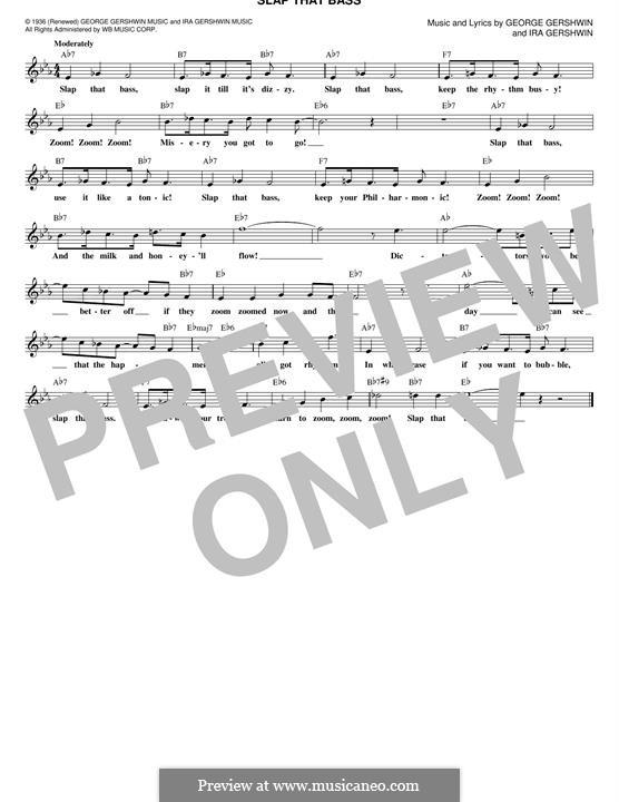 Slap That Bass: Мелодия by Джордж Гершвин
