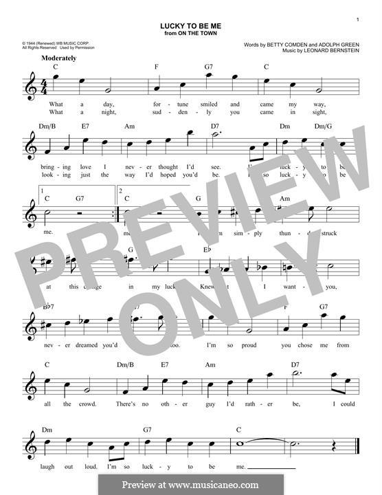 Lucky To Be Me: Мелодия by Леонард Бернстайн, Adolph Green