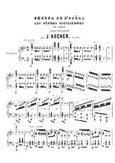 Сицилийская вечерня: Хор. Переложение для фортепиано by Джузеппе Верди