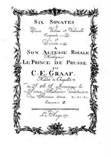 Сонаты для двух скрипок и виолончели, Op.10: Сонаты для двух скрипок и виолончели by Кристиан Эрнст Граф