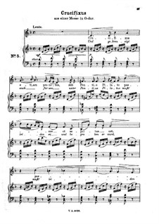 Месса соль мажор: No.5 Crucifixus. Arrangement for voice and piano by Иоганн Адольф Гассе