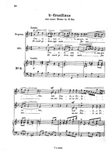 Месса соль мажор: No.6 Crucifixus. Arrangement for voice and piano by Иоганн Адольф Гассе