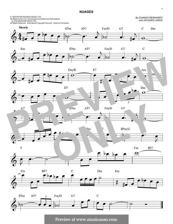 Nuages: Мелодия by Jacques Larue