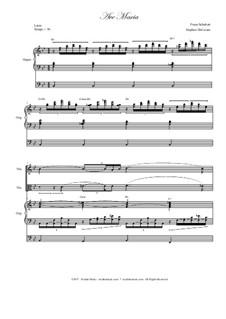 Аве Мария, D.839 Op.52 No.6: Duet for violin and viola - organ accompaniment by Франц Шуберт
