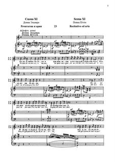In quali eccessi, o Numi: For soprano and piano by Вольфганг Амадей Моцарт