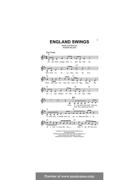 England Swings: Мелодия by Roger Miller