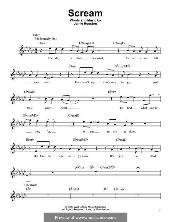 Scream (High School Musical 3): Мелодия by Jamie Houston