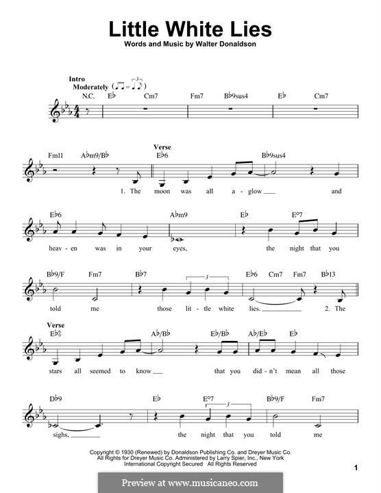 Little White Lies: Мелодия by Уолтер Дональдсон