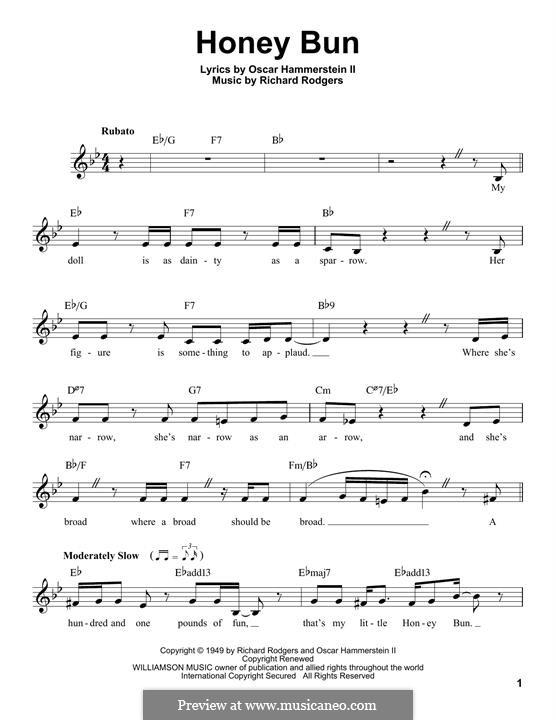 Honey Bun: Мелодия by Richard Rodgers