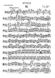Двадцать один этюд для виолончели: Этюд No.15 си-бемоль минор by Жан-Луи Дюпор