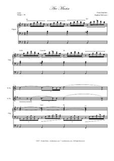 Аве Мария, D.839 Op.52 No.6: Duet for soprano and alto saxophone - organ accompaniment by Франц Шуберт