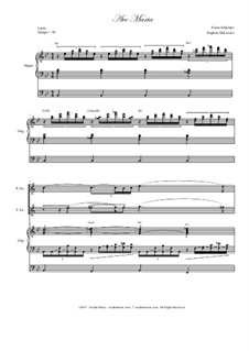 Аве Мария, D.839 Op.52 No.6: Duet for soprano and tenor saxophone - organ accompaniment by Франц Шуберт
