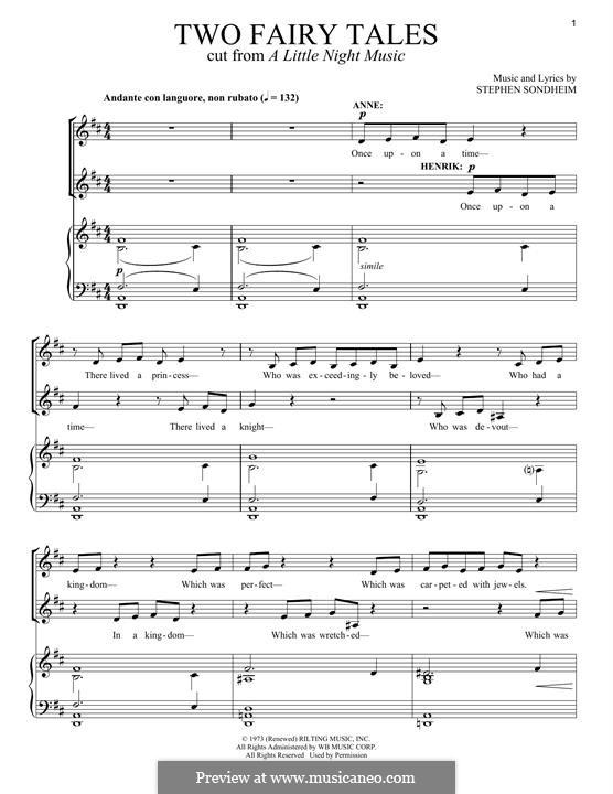 Two Fairy Tales: Для голоса и фортепиано by Stephen Sondheim