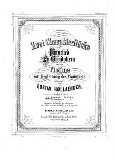 Minnelied, Op.7 No.1: Minnelied by Густав Холлендер