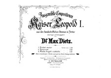 Реквием 'Missa pro defunctis', Op.11: Партитура by Леопольд I Габсбург