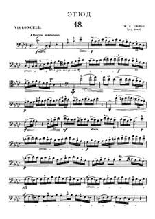 Двадцать один этюд для виолончели: Этюд No.18 ля-бемоль мажор by Жан-Луи Дюпор