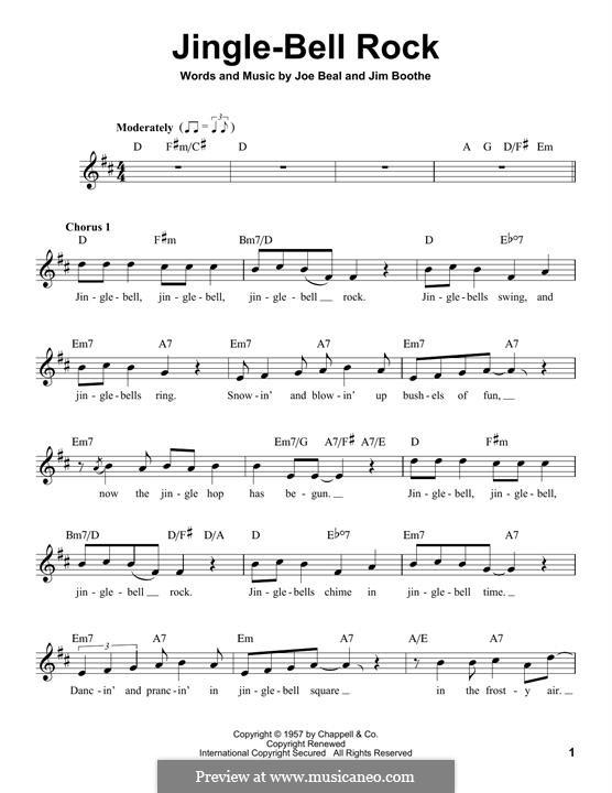 Jingle Bell Rock: Мелодия by Jim Boothe, Joe Beal