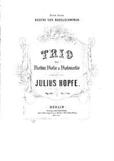 Струнное трио соль минор, Op.69: Партия виолончели by Генрих Юлиус Хопфе