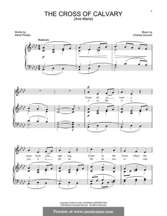 The Cross of Calvary: Для голоса и фортепиано by Шарль Гуно