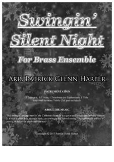 Тихая ночь (ноты для скачивания): For brass ensemble by Франц Ксавьер Грубер