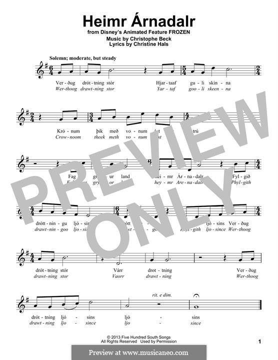 Heimr Arnadalr: Мелодия by Christophe Beck