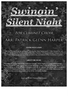 Тихая ночь (ноты для скачивания): For clarinet choir by Франц Ксавьер Грубер
