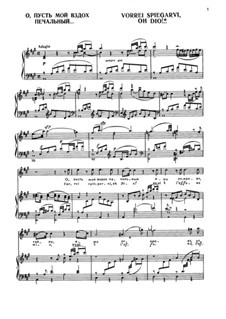 Vorrei spiegarvi, oh Dio, K.418: Для голоса и фортепиано by Вольфганг Амадей Моцарт
