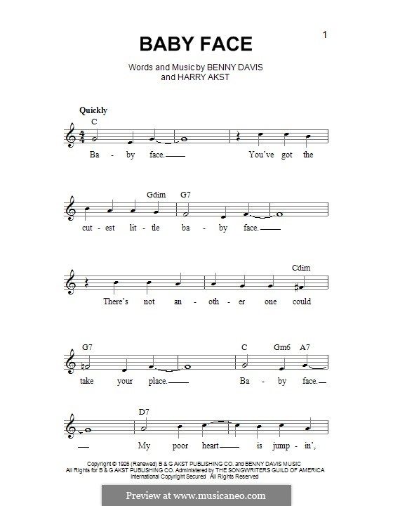 Baby Face: Мелодия by Benny Davis