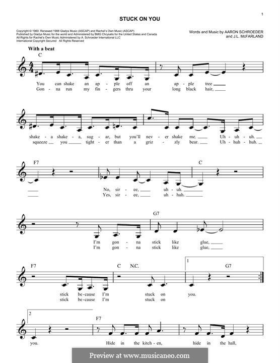 Stuck on You (Elvis Presley): Мелодия by Aaron Schroeder, J. Leslie McFarland