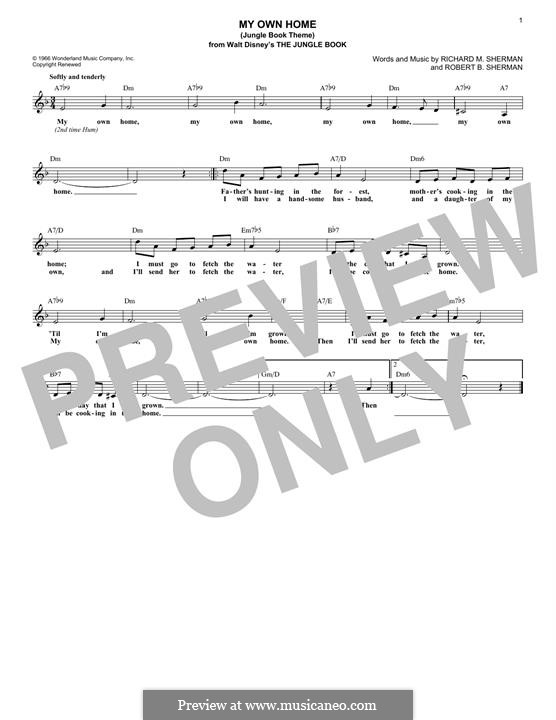 My Own Home (Jungle Book Theme): Мелодия by Richard M. Sherman, Robert B. Sherman