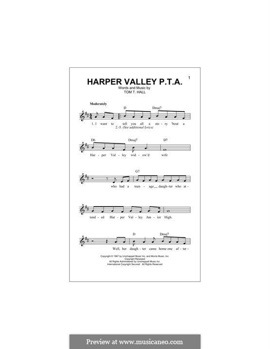 Harper Valley P.T.A.: Мелодия by Tom T. Hall