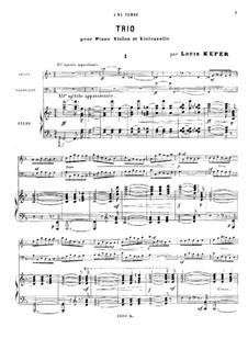 Фортепианное трио фа мажор: Партитура by Луи Кефер