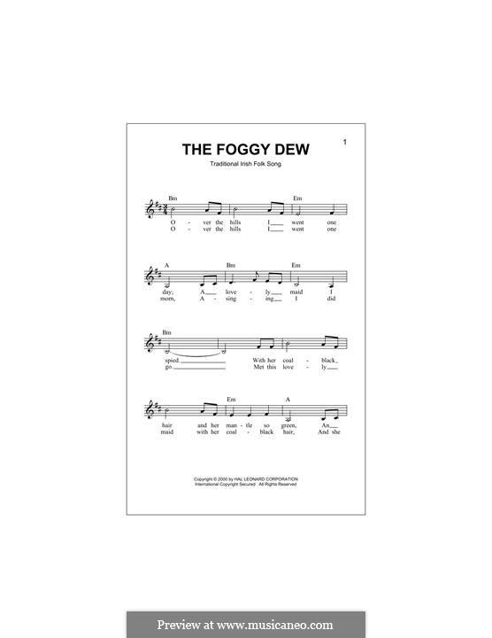 The Foggy Dew: Мелодия by folklore