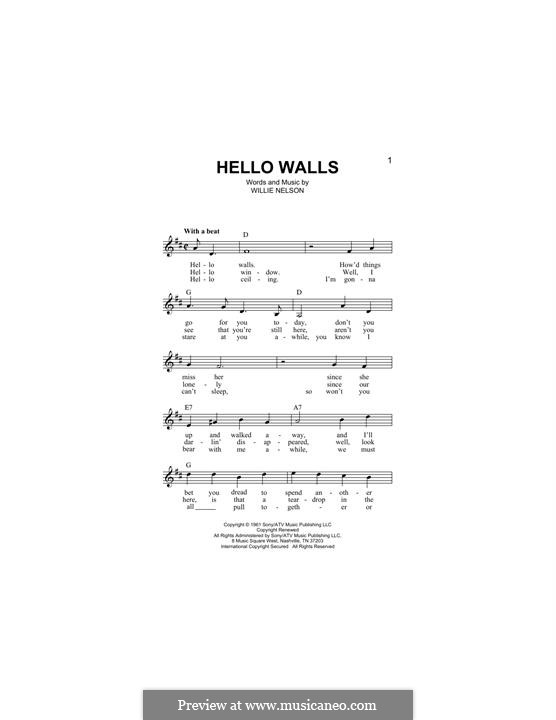 Hello Walls (Faron Young): Мелодия by Willie Nelson