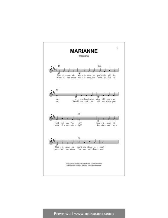 Marianne: Мелодия by folklore