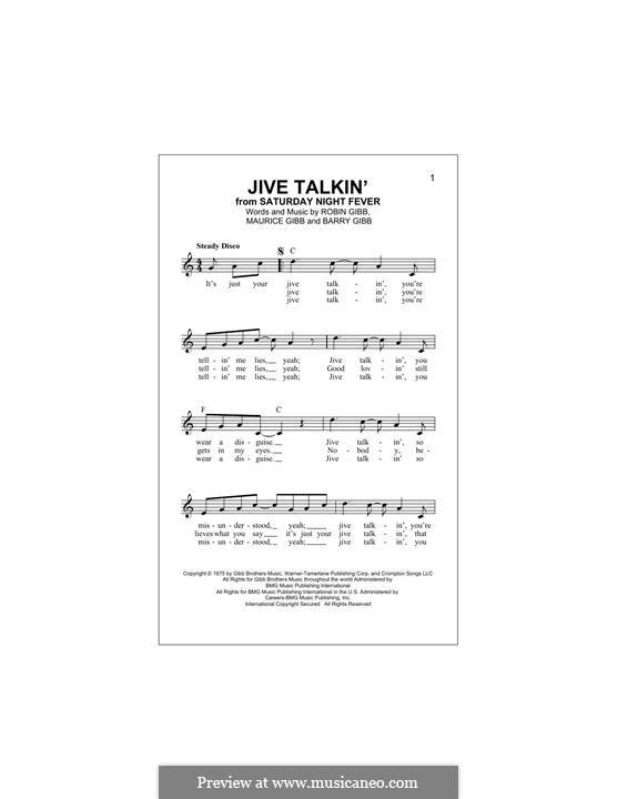 Jive Talkin' (The Bee Gees): Мелодия by Barry Gibb, Maurice Gibb, Robin Gibb