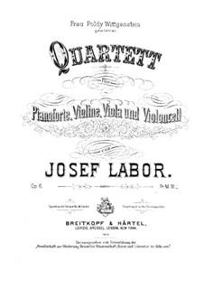 Фортепианный квартет до мажор, Op.6: Партитура by Йозеф Лабор