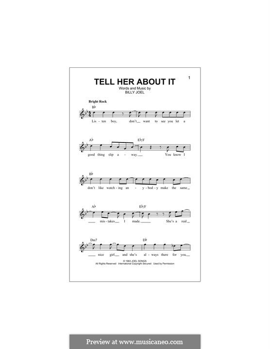 Tell Her About It: Мелодия by Billy Joel