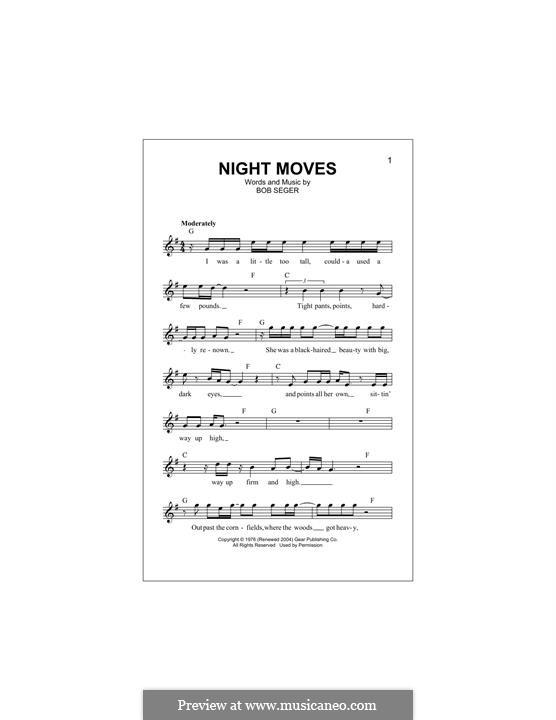 Night Moves: Мелодия by Bob Seger