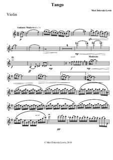 Tango: Для скрипки и фортепиано by Meri Dolevski-Lewis