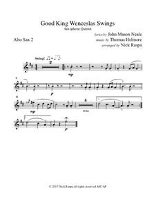 King Wenceslas Swings: For easy sax quintet – alto II part by Thomas Helmore