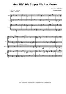 No.25 И ранами Его мы исцелились: For woodwind quartet by Георг Фридрих Гендель