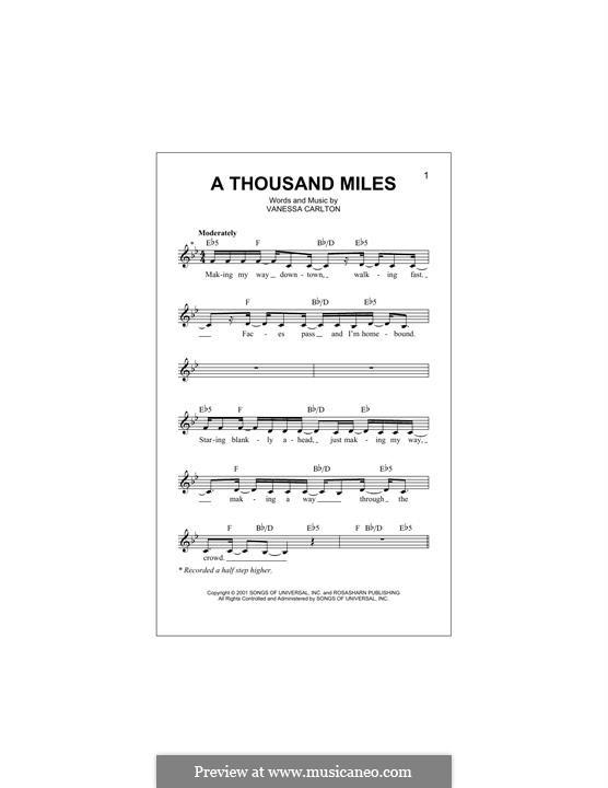 A Thousand Miles: Мелодия by Vanessa Carlton