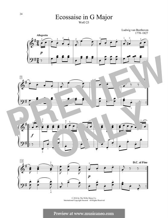 Экосез соль мажор, WoO 23: Для фортепиано by Людвиг ван Бетховен
