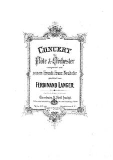 Концерт для флейты с оркестром соль минор, Op.3: Версия для флейты и фортепиано by Фердинанд Лангер