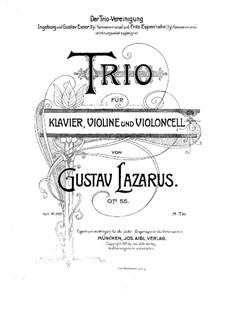 Фортепианное трио ми минор, Op.55: Партитура by Густав Лазарус